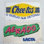 Silk em adesivos - Cheetos e Lacta