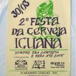 Serigrafia em papel vergê Bar Iguana