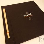 Silk em tecido - cardápio Shundi Tomodashi