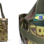 Silk em tecido laminado - bolsa Brazil