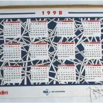 Silk em tecido bidim - calendário