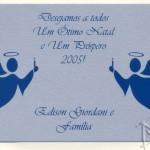Silk em relevo no papel silver - cartão de natal