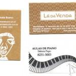 Silk em papel kraft e vegetal - cartões de visitas