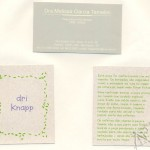 Silk em relevo no papel reciclato - cartões de visita